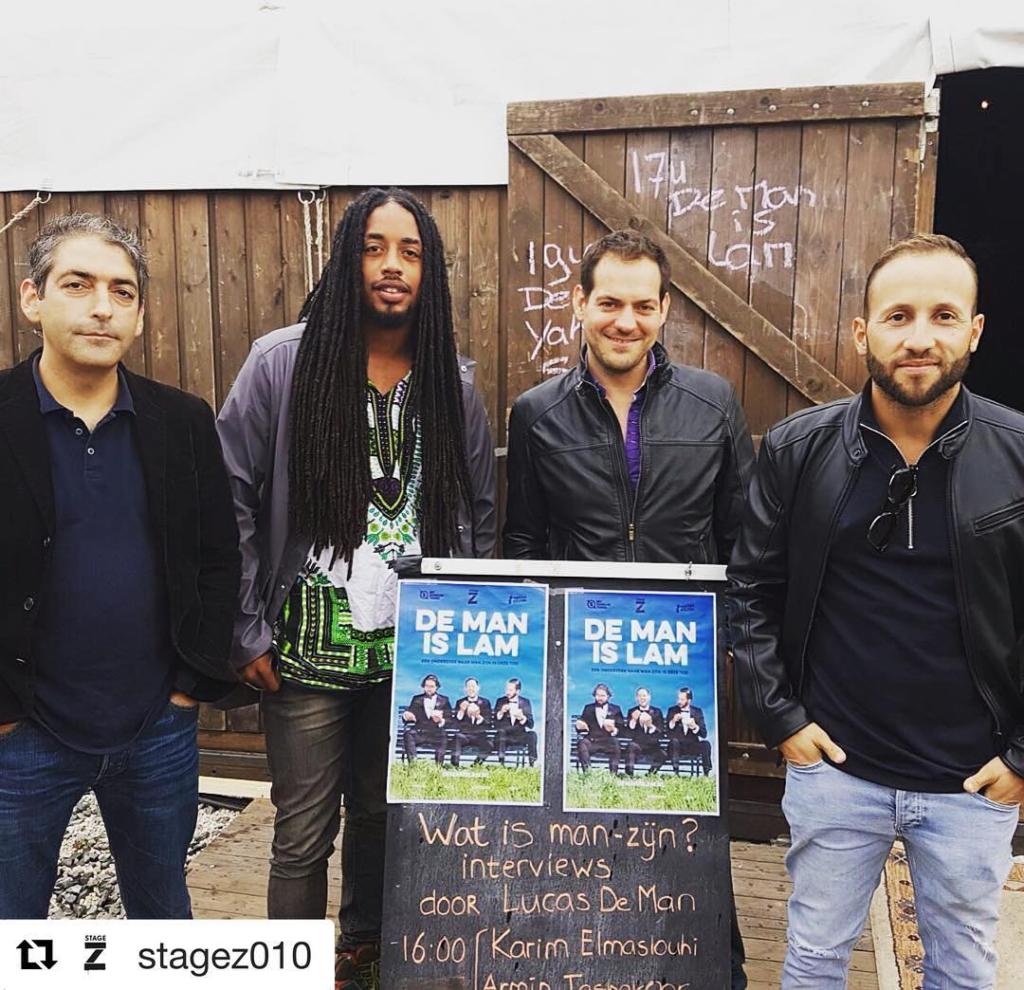 #Repost @stagez010 with @repostapp ・・・ Geslaagde kick-off van #demanislam bij @djemaaelfnarotterdam gisteren! Met @y.m.p @karimoves #armintashakoor #markvanzoest #lucasdeman #live #interviews #mannen #rotterdam